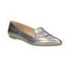 Dámska kožená obuv s perforáciou bata, 526-1659 - 13