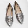 Dámska kožená obuv s perforáciou bata, 526-1659 - 16