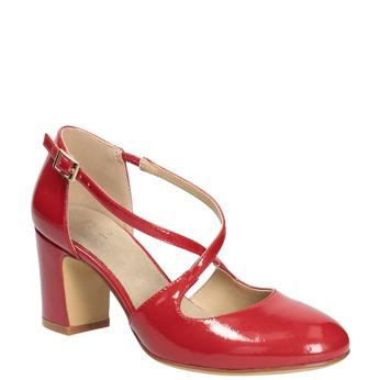 Lakované dámske lodičky insolia, červená, 721-5611 - 13