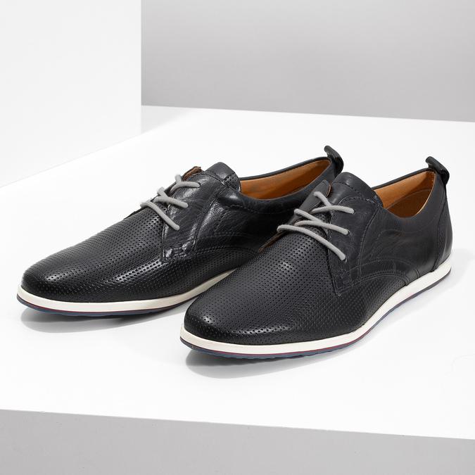 Ležérne kožené poltopánky bata, čierna, 824-9124 - 16