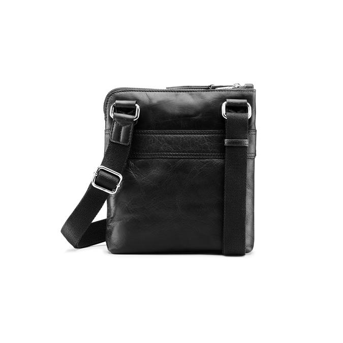 Čierna kožená Crossbody taška bata, čierna, 964-6288 - 26