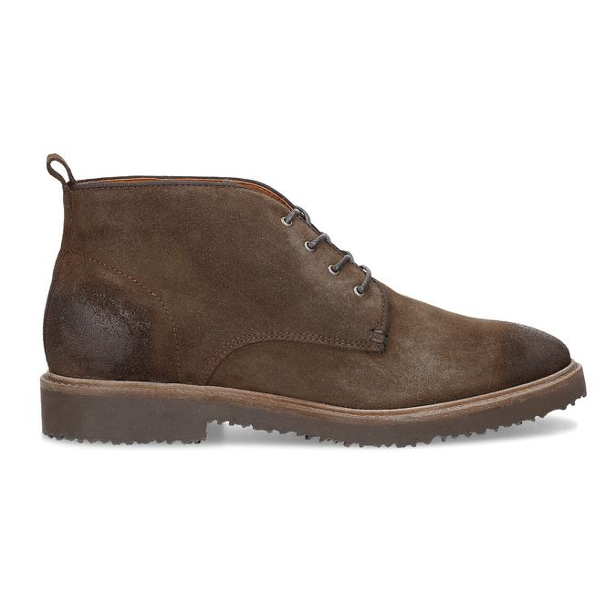 Kožená obuv v štýle Chukka Boots bata, hnedá, 823-4627 - 19