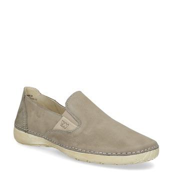 Kožené topánky v štýle Slip-on weinbrenner, béžová, 536-3606 - 13
