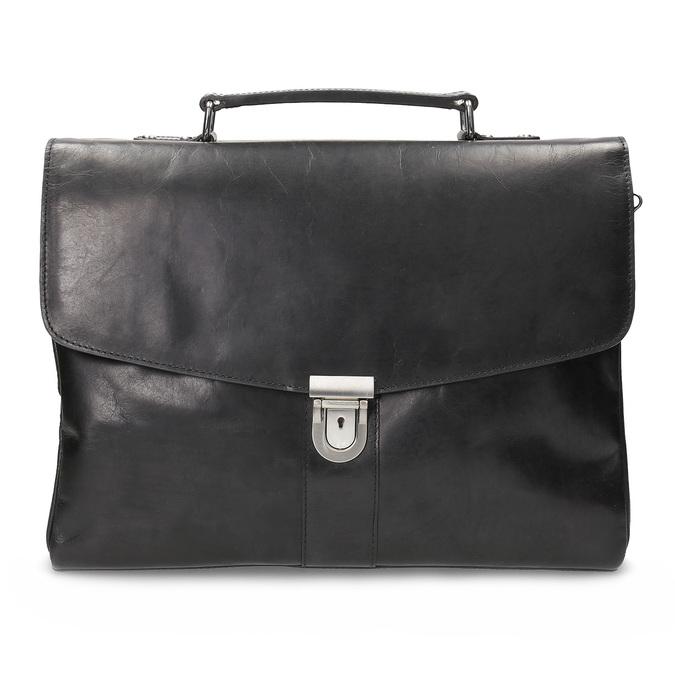 Kožená pánska aktovka bata, čierna, 964-6289 - 26