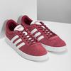 Červené pánske tenisky z brúsenej kože adidas, červená, 803-5379 - 26