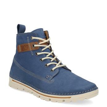 Dámska kožená členková obuv weinbrenner, modrá, 594-9666 - 13