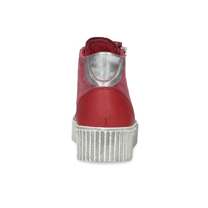 Kožené členkové tenisky červené bata, červená, 596-5692 - 15
