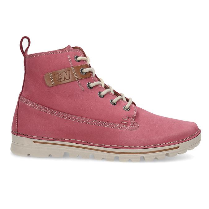 Kožená ružová členková obuv weinbrenner, 594-5666 - 19