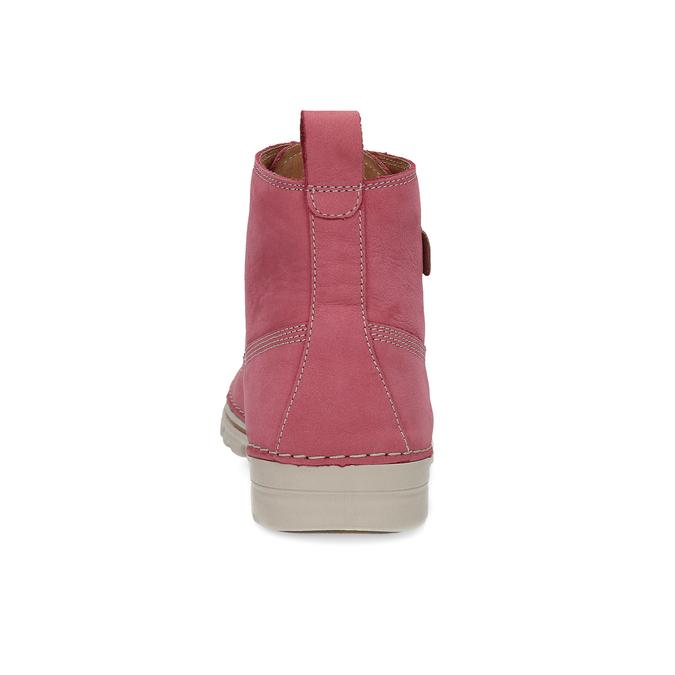 Kožená ružová členková obuv weinbrenner, 594-5666 - 15