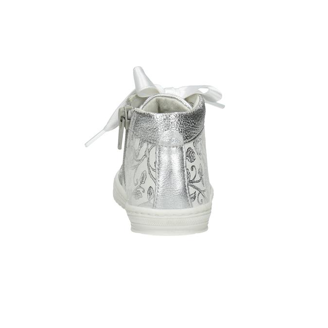 Detská strieborná obuv s mašľou bubblegummers, 126-1605 - 15
