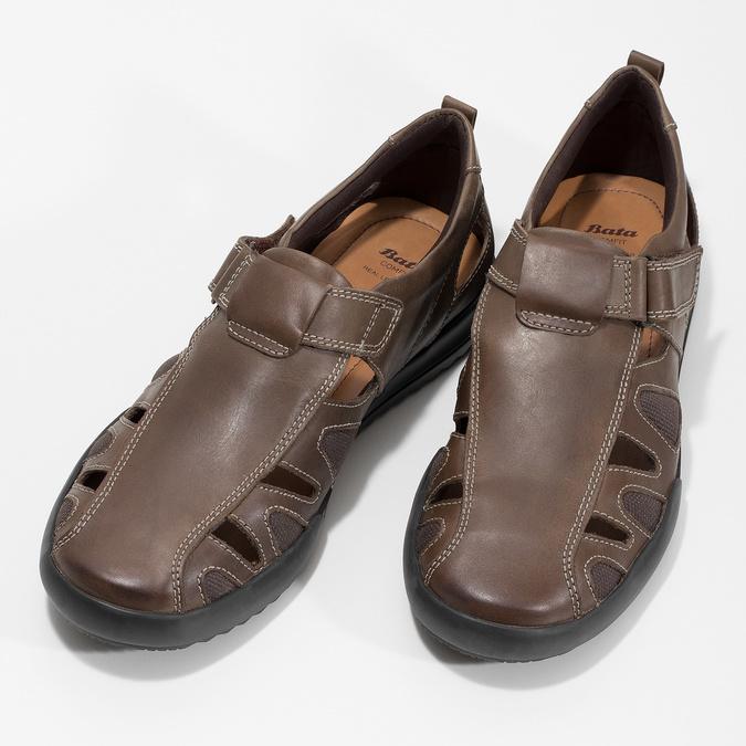 Kožené pánske sandále comfit, hnedá, 856-4605 - 16