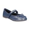 Modré kožené dievčenské baleríny mini-b, modrá, 326-9602 - 13