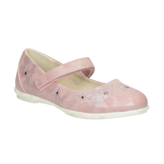 Dievčenské ružové baleríny s cvočkami mini-b, ružová, 321-5615 - 13