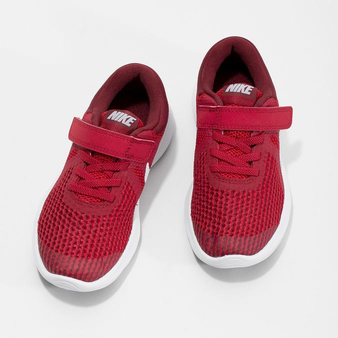 Červené detské tenisky na suchý zips nike, červená, 309-5179 - 16