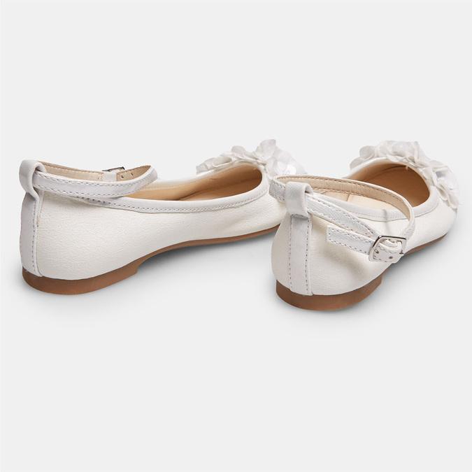 Dievčenské biele baleríny s kytičkami mini-b, biela, 321-1162 - 17