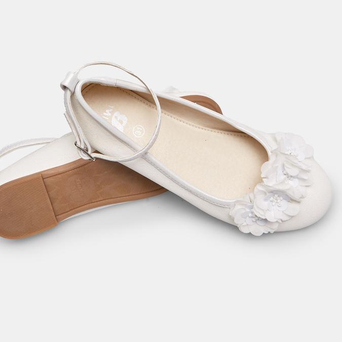 Dievčenské biele baleríny s kytičkami mini-b, biela, 321-1162 - 19