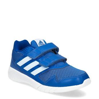 Modré detské tenisky na suchý zips adidas, modrá, 309-9148 - 13