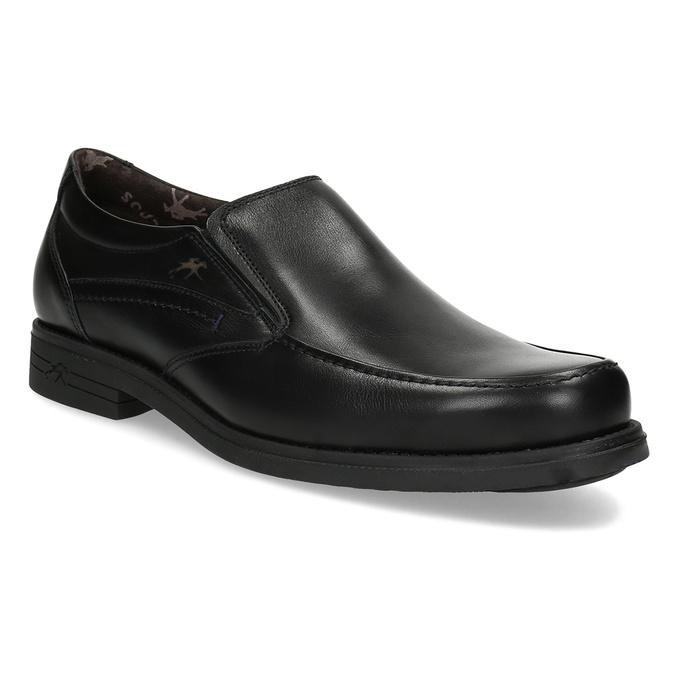 Kožené pánske Loafers fluchos, čierna, 814-6600 - 13