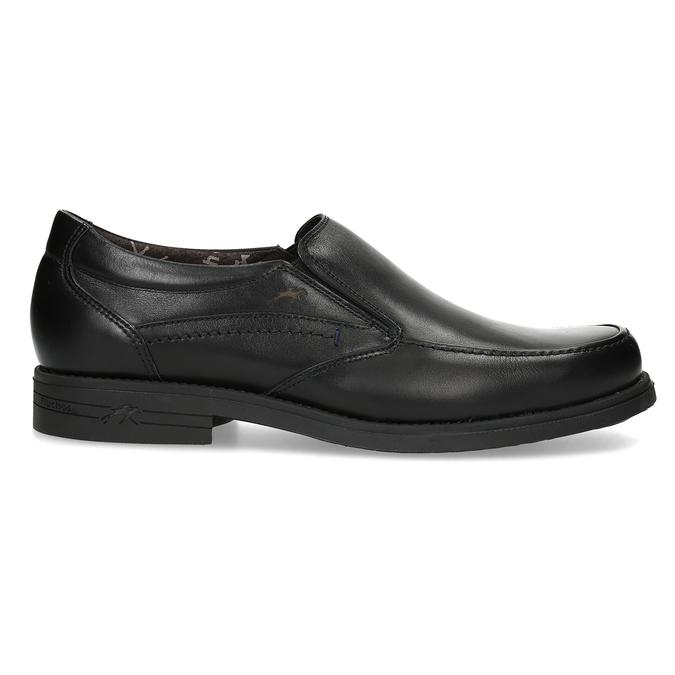 Kožené pánske Loafers fluchos, čierna, 814-6600 - 19