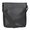 Pánska Crossbody taška s vreckom bata, čierna, 961-6837 - 16