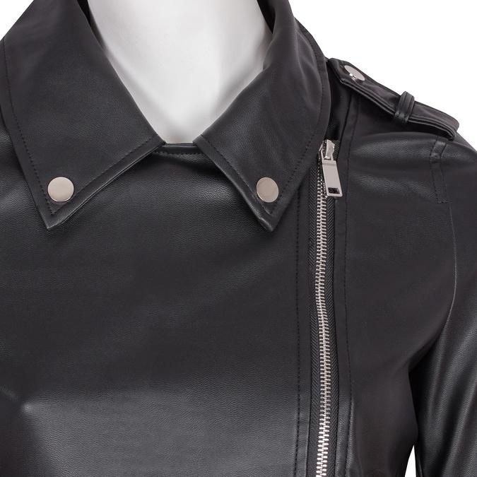 Koženková bunda s golierom a zipsami bata, čierna, 971-6198 - 16