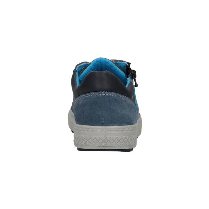 Chlapčenské kožené tenisky modré mini-b, modrá, 416-9603 - 16