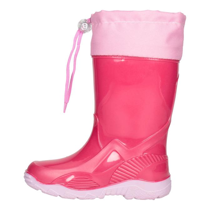 Ružové dievčenské gumáky mini-b, ružová, 192-5111 - 15