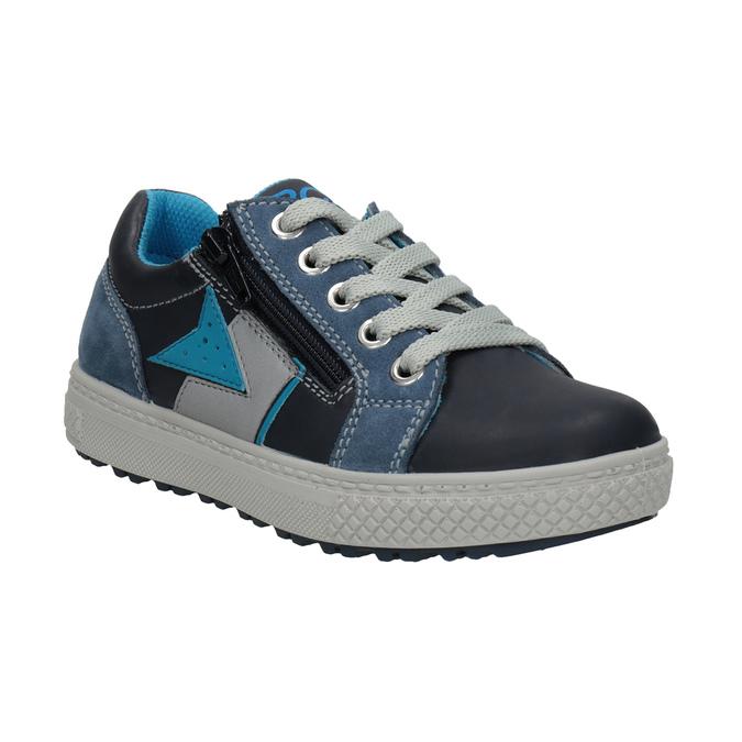 Chlapčenské kožené tenisky modré mini-b, modrá, 416-9603 - 13
