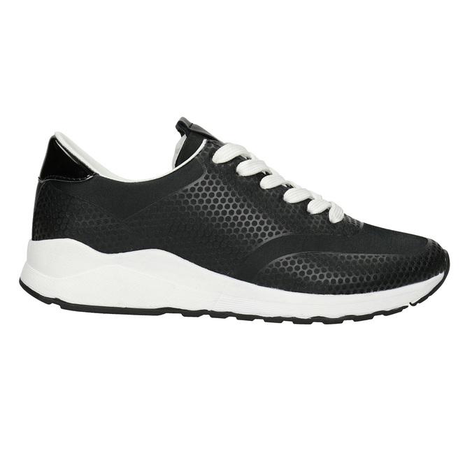 Čierne dámske tenisky bata-light, čierna, 549-6605 - 26