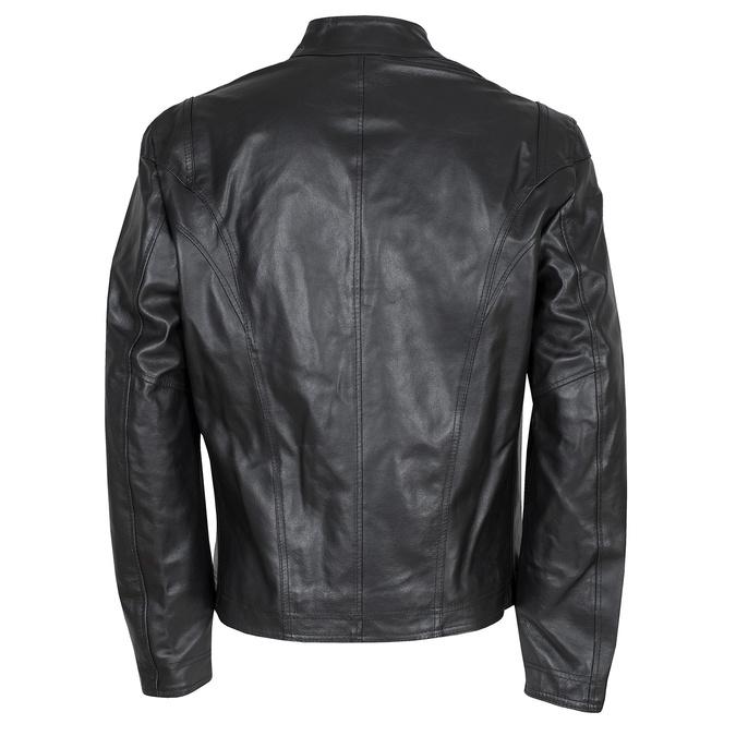 Pánska čierna kožená bunda bata, čierna, 974-6134 - 26