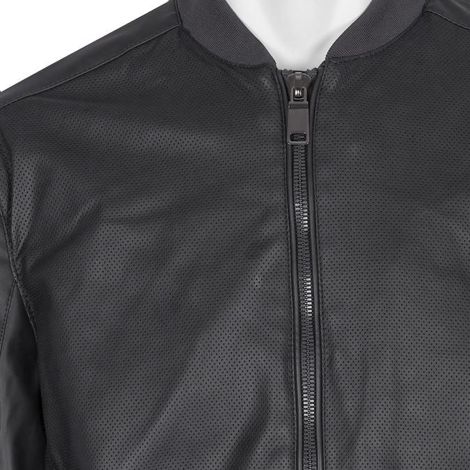 Pánska bunda s perforáciou bata, čierna, modrá, 971-9197 - 16