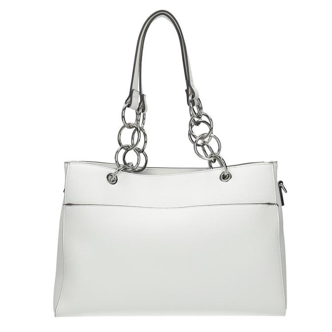 Biela kabelka s retiazkou bata, biela, 961-1343 - 26