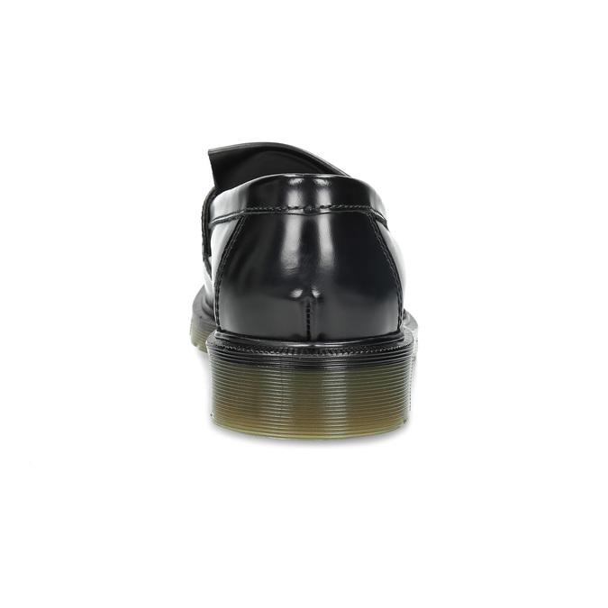 Kožené pánske mokasíny na výraznej podrážke bata, čierna, 814-6176 - 15