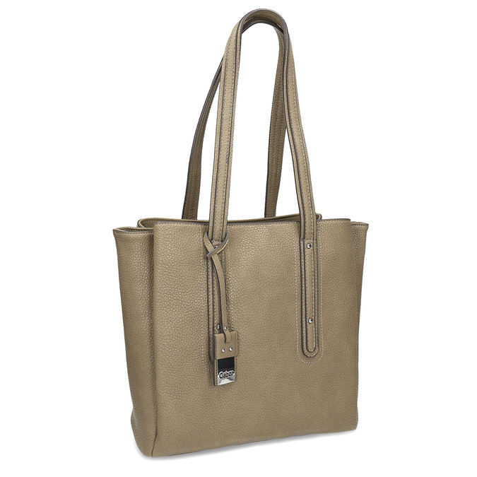 Dámska kabelka s dlhšími rúčkami gabor-bags, hnedá, 961-4011 - 13