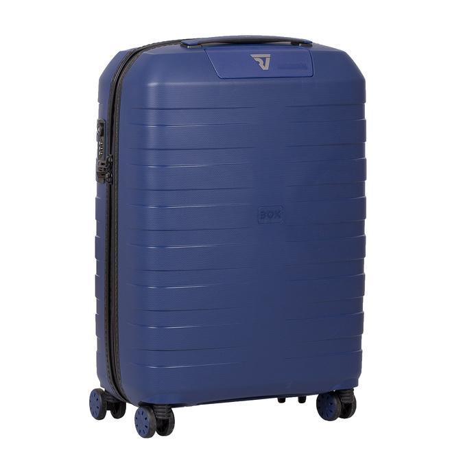 Menší cestovný kufor na koliečkach roncato, modrá, 960-9608 - 13