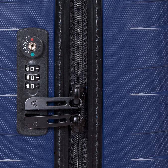 Menší cestovný kufor na koliečkach roncato, modrá, 960-9608 - 15