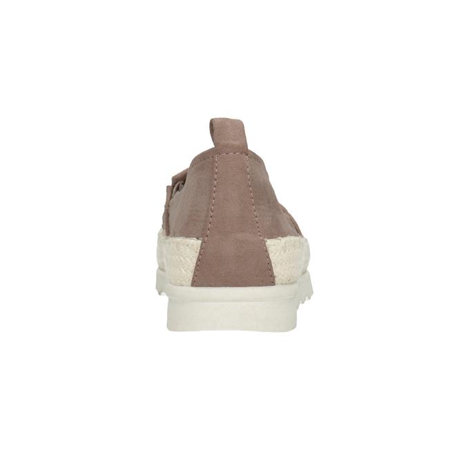 Hnedé dámske espadrilky bata, 519-5606 - 16