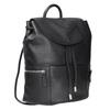 Čierny kožený batoh so zipsami bata, čierna, 964-6259 - 13