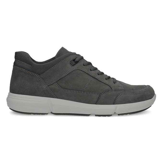 Kožené čierne pánske tenisky bata-light, šedá, 846-2712 - 19