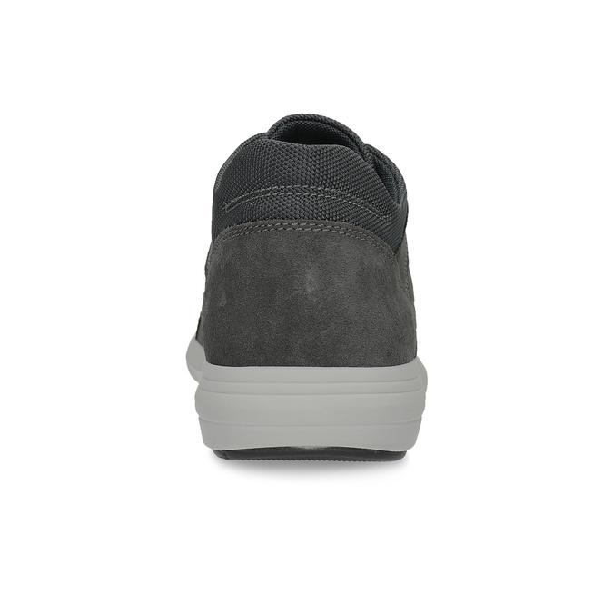 Kožené čierne pánske tenisky bata-light, šedá, 846-2712 - 15