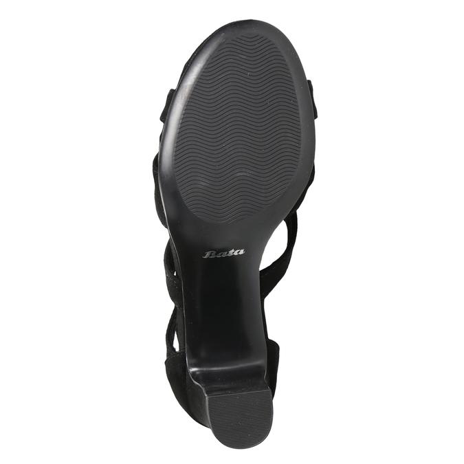 Čierne sandále na stabilnom podpätku insolia, čierna, 769-6617 - 19