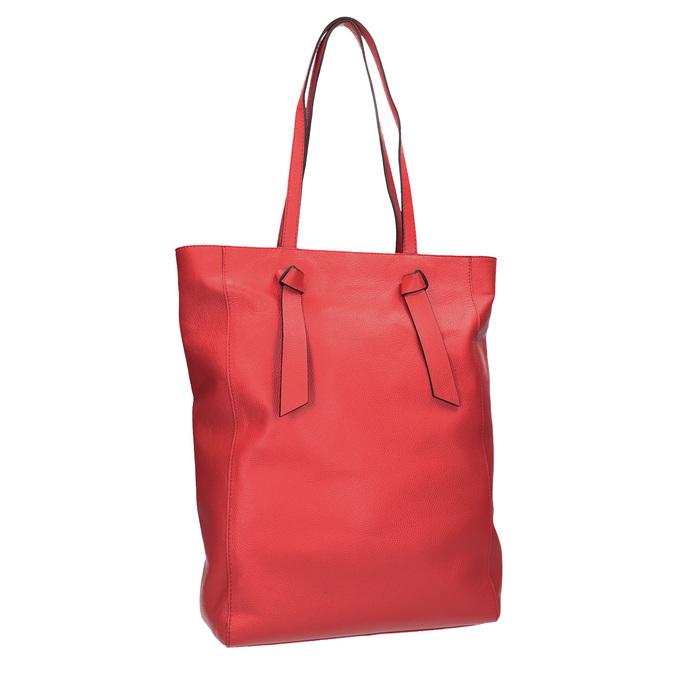 Červená kožená kabelka v štýle shopping bag bata, červená, 964-5297 - 13