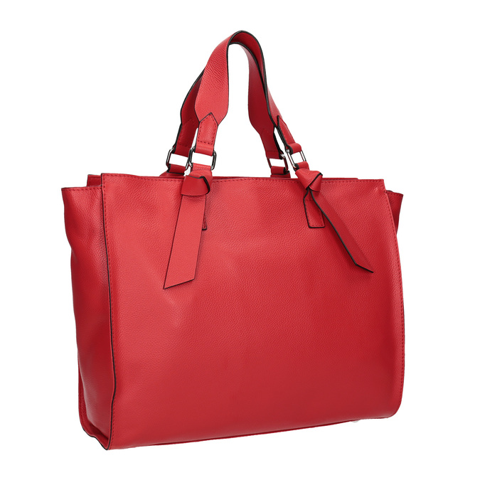 Červená kožená kabelka bata, červená, 964-5296 - 13