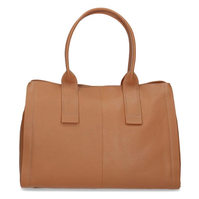 Svetlo hnedá kožená kabelka bata, hnedá, 964-3298 - 26