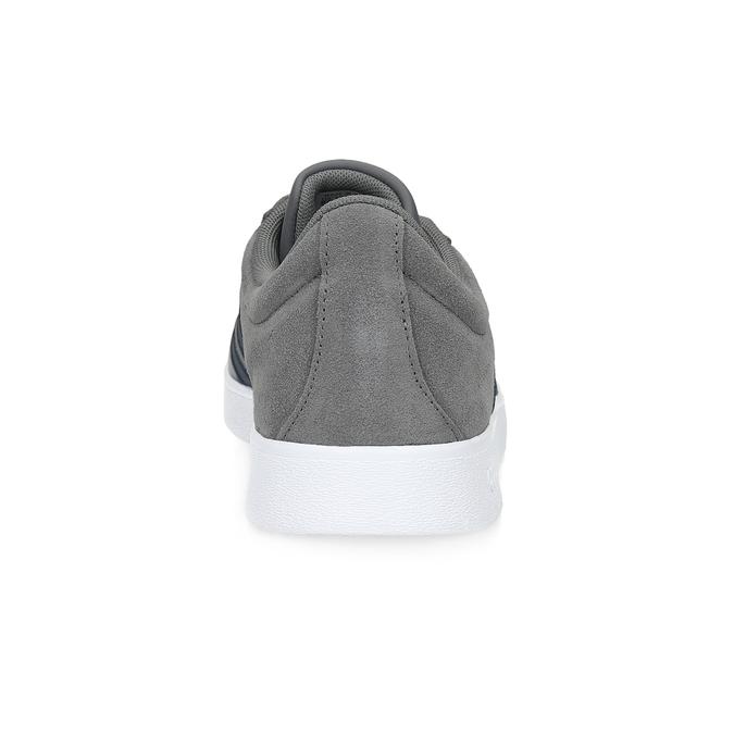 Pánske šedé tenisky z brúsenej kože adidas, šedá, 803-2379 - 15