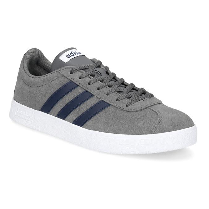 Pánske šedé tenisky z brúsenej kože adidas, šedá, 803-2379 - 13