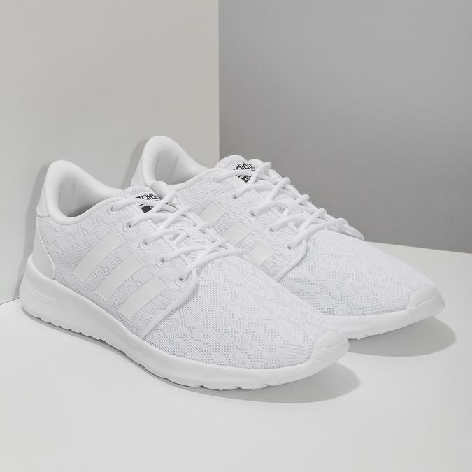 Biele dámske tenisky s čipkou adidas, biela, 509-1112 - 26
