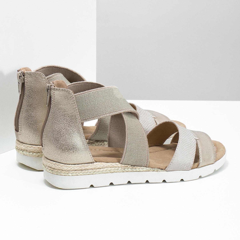 af3ebeca1c8 Baťa Zlaté dámske sandále na kline - Bez podpätku