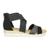 Čierno-strieborné dámske sandále bata, čierna, 569-6608 - 19