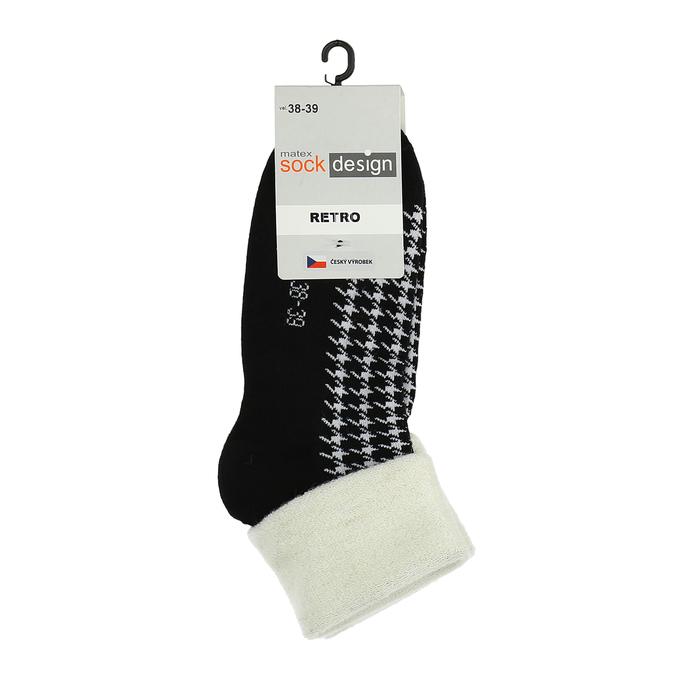 Retro ponožky matex, čierna, 919-6356 - 13